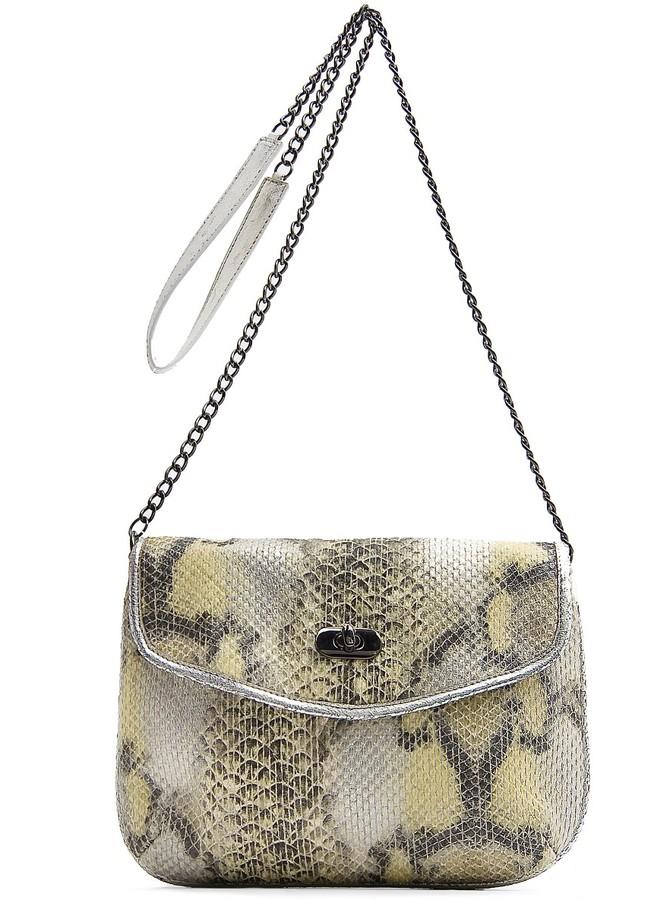 TOUCH - Snake print messenger bag