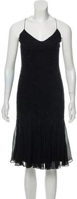Amanda Wakeley Sleeveless Embellished Evening Dress