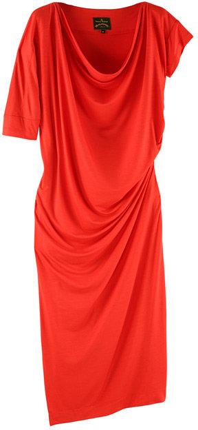 Vivienne Westwood Red New Draped Dress