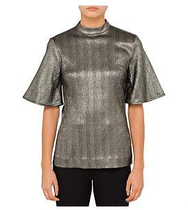 Ellery Riff Brothers Lurex Check Top