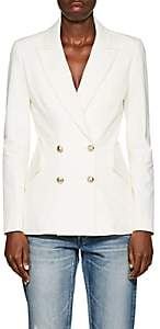 Derek Lam 10 Crosby Women's Cotton Double-Breasted Blazer - White