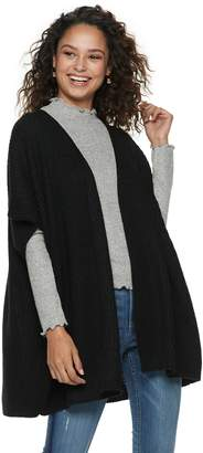 Mudd Women's Lace Back Knit Poncho