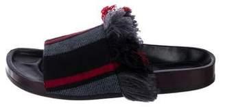 Chloé Felt Slide Sandals