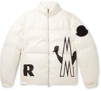 Moncler Friesian Printed Quilted Shell Hooded Down Jacket - Men - White