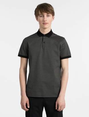 Calvin Klein slim fit striped pima cotton polo shirt
