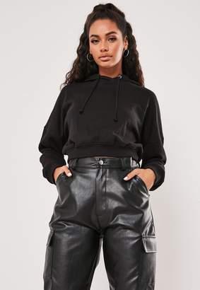 Missguided Petite Black Pullover Hoodie