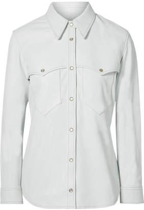 Isabel Marant Nile Leather Shirt - White