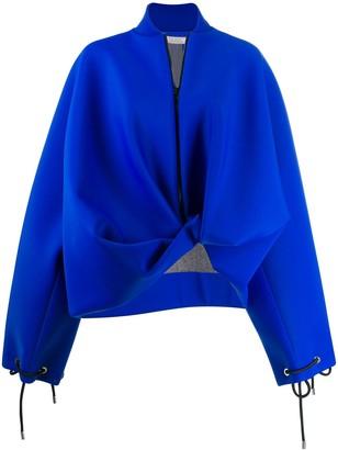 Nina Ricci oversized asymmetric bomber jacket