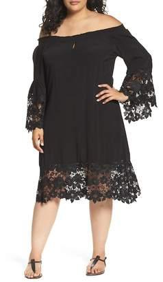 Muche et Muchette Jolie Lace Accent Cover-Up Dress (Plus-Size)