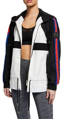 P.E Nation Block Out Side-Stripe Hooded Track Jacket