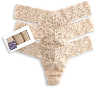 Hanky Panky Set of 3 Signature Lace Low Rise Thongs