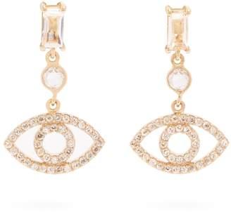 Ileana Makri Diamond & yellow-gold earrings