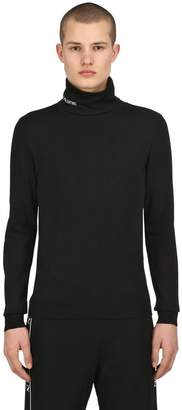 Valentino Vltn Viscose Knit Turtleneck Sweater