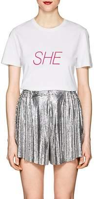 """Women's """"She"""" Cotton Jersey T-Shirt"""