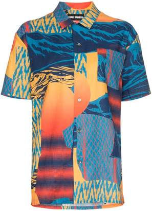 Double Rainbouu Pirate Bay Hawaiian print cotton shirt