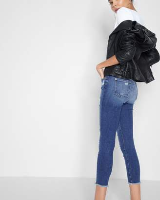 7 For All Mankind High Waisted Ankle Skinny with Released hem in Serratoga Bay