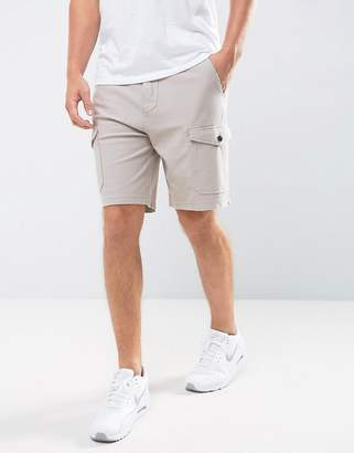 Abercrombie & Fitch Cargo Shorts Twill Knit in Beige