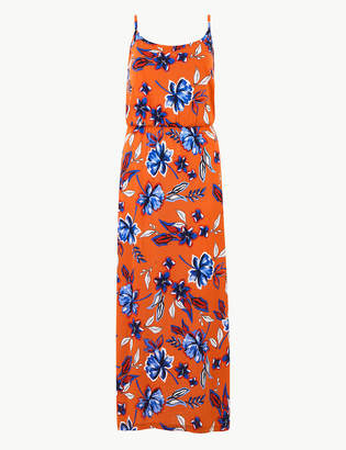 Marks and Spencer Pure Cotton Floral Print Slip Maxi Dress