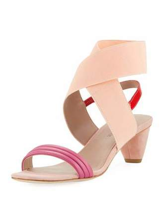 Donald J Pliner Hira Colorblock Suede & Leather Low-Heel Sandal