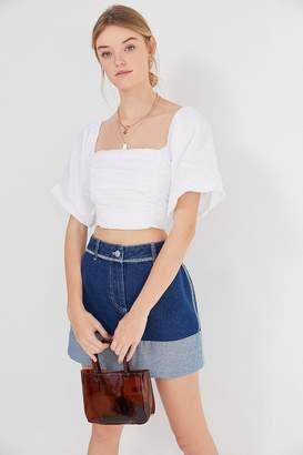 BDG Rowan Denim Cuffed Mini Skirt