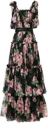 Dolce & Gabbana tiered floral dress
