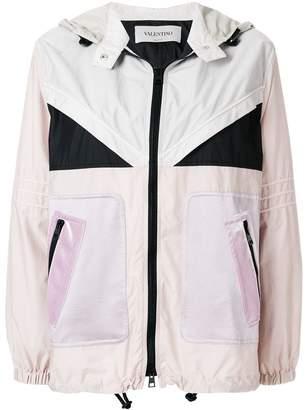 Valentino colour blocked lightweight jacket