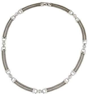 Charriol Charriol 18K Diamond Station Collar Necklace