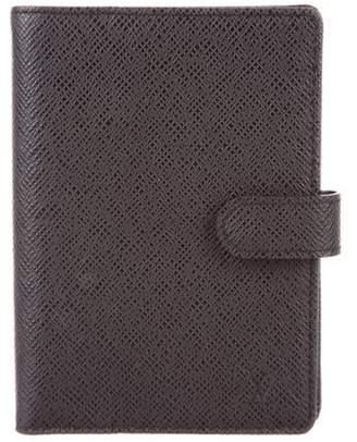 Louis Vuitton Taiga Small Ring Agenda Cover Black Taiga Small Ring Agenda Cover