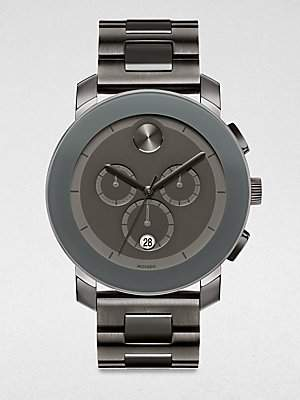 Movado Men's Bold 3600142 Black Stainless-Steel Swiss Quartz Watch with Dial