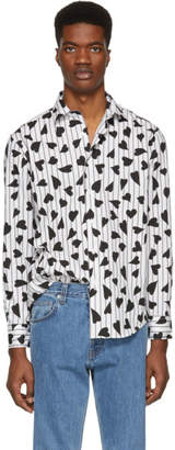 J.W.Anderson Black and White Heart Stripe Shirt