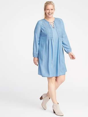Old Navy Plus-Size Pintuck Tencel® Swing Dress