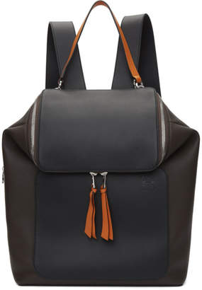 Loewe Brown and Orange Goya Backpack