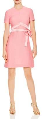 Sandro Isaure Silk-Sash A-Line Dress