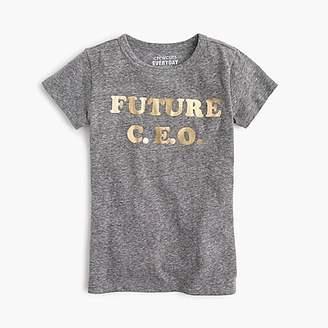 "J.Crew Girls' ""future CEO"" T-shirt"