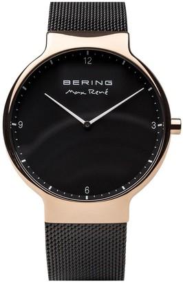 Bering Men's Polished Rosetone Milanese Watch