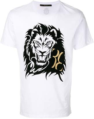 Billionaire lion and monogram print T-shirt