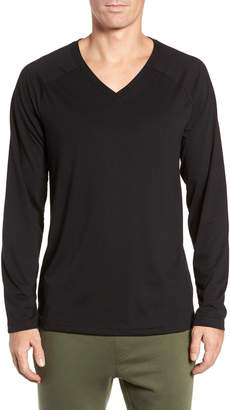 Alo Triumph Long Raglan Sleeve V-Neck T-Shirt