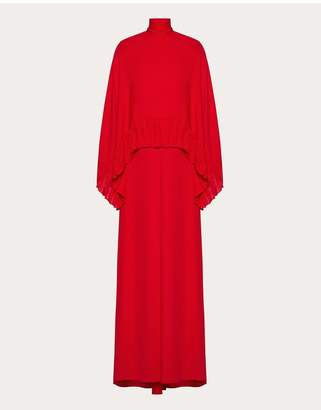 Valentino Georgette Evening Dress With Ruffles