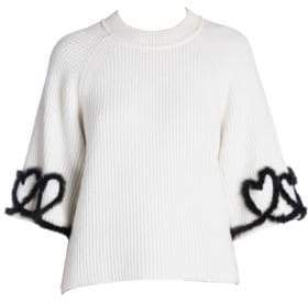 Fendi Mink Heart Pullover