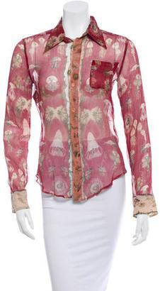 Jean Paul Gaultier Silk Printed Blouse $70 thestylecure.com