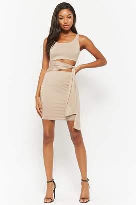 Forever 21 Pieced Waist-Wrap Dress