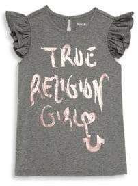 True Religion Little Girl's Flutter-Sleeve Top