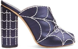 MARCO DE VINCENZO Spider's web-embroidered satin mules $583 thestylecure.com