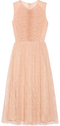 Jason Wu - Ruched Lace Midi Dress - Blush $2,895 thestylecure.com