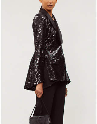 Prabal Gurung Split-sleeve sequin and satin jacket