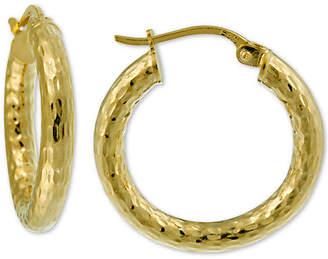 a6118f314 Giani Bernini Diamond-Cut Hoop Earrings in 18k Gold-Plate Over Sterling  Silver