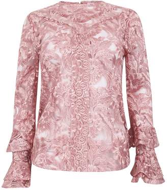 Olivia Annabelle Embroidered Frill Lace Blouse