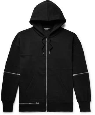 Alexander McQueen Oversized Zip-Detailed Fleece-Back Cotton-Jersey Zip-Up Hoodie