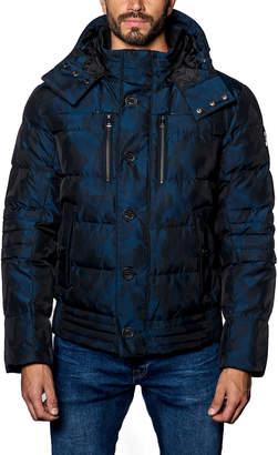 Jared Lang Alaska 2B Camo Hooded Puffer Jacket, Dark Blue