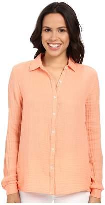 Three Dots Long Sleeve Shirt Women's Long Sleeve Button Up